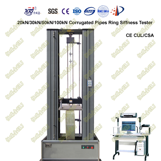 CRT-20/30/50/100kN Corrugated Pipes/Bellows Ring Stiffness Testing Machine